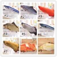 Wholesale stuffed plush fish for sale - Group buy Hot Sale Cat Favor Fish plush Stuffed Sisal Fish Cat Scratch Board Scratching Post Playing Toys For Pet Dogs Chasing Toys Cat Supplies