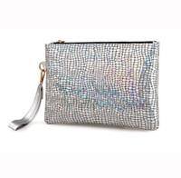 parti zarf çantası toptan satış-Lüks Çanta Kadın Çanta Tasarımcısı Zarf Parti Debriyaj Holografik Bayanlar El Çantaları Akşam Bileklik Debriyaj Günü Kavramalar Çanta
