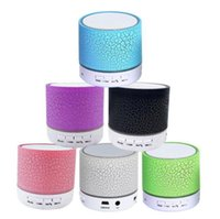 Wholesale android sound card - LED Bluetooth Speaker Wireless Portable Speaker LED A9 Subwoofer Stereo Player for IOS Android Phone iPhone 8 7 Party Speakers