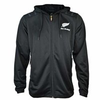 Wholesale new zealand clothing online - All Blacks Black Hoodie New Zealand Super Rugby Jerseys All Blacks jersey Casual clothes Jacket s xl