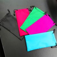 разноцветные солнцезащитные очки оптовых-Многоцветный очки пылезащитный мешок мода водонепроницаемый мешок ткани очки набор карманный очки чехол контейнер 0 27qm гг