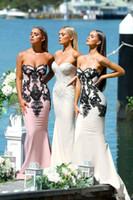 длинные платья для подружек невесты оптовых-Современные Русалка платья невесты 2018 милая установлены рукавов длинные платья выпускного вечера свадьбы гость индивидуальные платья невесты партии
