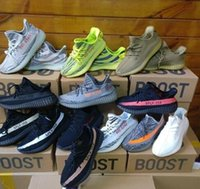 Wholesale Safety Shoes Black - 2018 best Beluga 2.0 Kanye West Sply Boost 350 V2 blue tint zebra Black White Men Women boost 350 Yellow Running Shoes