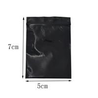 sacs en plastique d'emballage de détail noir achat en gros de-5 * 7 cm Mini Zip Lock Noir Rescellable Ziplock Bag 500 pcs / lot Self Seal Plastique Sac Sac