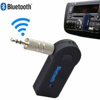 leitor de áudio em sequência venda por atacado-Marsnaska handsfree bluetooth 3.0 car kit sem fio de 3.5mm de transmissão a2d auto carro áudio música receiver player de vídeo função micr