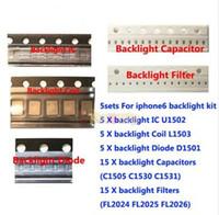 kits de condensadores al por mayor-5set / lot para iPhone 6 6plus soluciones de retroiluminación Kit IC U1502 + bobina L1503 + diodo D1501 + Capacitor C1530 31 C1505 filtro FL2024-26