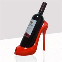 zapatos de mesa al por mayor-Zapatos de tacón alto creativos Rack de vino Muebles para el hogar Sala de estar Decoración de la mesa Vinos rojos Marco conciso Moderno Marcos de licor 22 9yh Y