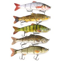 Wholesale trout fishing lures online - Metal Jointed Fishing Lure cm g Sections Swimbait Hard Bait Crankbait Fish Lure Bass Trout Killer