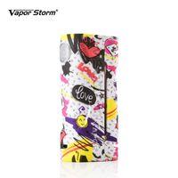 ecig max großhandel-Dampfsturm ECO E Zigarette Graffiti Vape Mod Mode Max 90 Watt Graffiti Box Mod für 18650 Batterie Punk Cartoon Rock Camo Grau Ecig