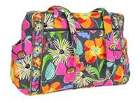 grandes fleurs en nylon achat en gros de-NWT VB bébé sac à langer fleur épaule sac à main sac à main sac fourre-tout