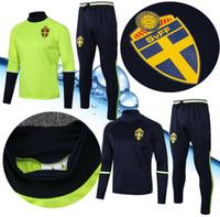 camisolas desportivas personalizadas venda por atacado-De alta qualidade Suécia Survetement agasalho Away Jerseys Qualidade tailandesa Esportes Personalizados Athletic Sweden Formação terno Camisas Camisas Tops