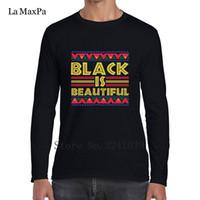 ropa afroamericana al por mayor-La Maxpa Crazy Black Is Beautiful African American Tee Shirt Los hombres de invierno Style T-Shirt Mens Clothing Cotton T Shirt Man