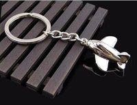 neues mini flugzeug großhandel-Kleine Flugzeug Schlüsselanhänger Neue Design Silber Metall Mini Unbemannte Flugzeug Schlüsselanhänger Schöne Party Geschenk