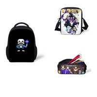 ingrosso sacchetto di telefono cellulare anime-Anime Undertale Backpack for Teenage Kids Ragazze Ragazzi Book Bag Women Travel Bag Undertale Bambini School bags Zaini