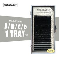 смесь для ресниц оптовых-NAGARAKU 16rows/case 7 15mm mix in one tray Faux individual eyelash extension synthetic individual eyelash extension cilia lash