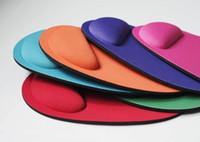 Wholesale blue mouse mat - Wholesale-Wrist Comfort no smell Mice Pad Mat Mousepad with Wrist Rest for Optical Mouse 500pcs lot