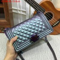 Wholesale Colourful Bags - Famous designer brand new Gabrielle Luxury Handbags Le Boy Designer Shoulder Bag Rainbow chain crossbody colourful leather