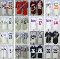 Wholesale beer jersey - Movie jersey Hooligans Bruno Mars Wade Boggs Doug Remer Joe Cooper Roberto Clemente Seth Beer #9 Knights Baseball Jerseys