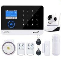 ev için gsm alarm sistemi toptan satış-EN RU ES PL DE Değiştirilebilir Kablosuz Ev Güvenlik WIFI GSM GPRS Alarm sistemi APP Uzaktan Kumanda RFID kartı Kol Çözme