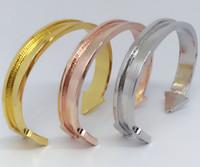 Wholesale Gold Arrow Bracelet Wholesale - Hair tie bracelet nickle without black hair tie fashion new Arrow open cuff Bangle bracelet jewelry