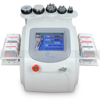 Wholesale Cellulite Reduction Equipment - 8 pads professional lipo laser lose weight machine vacuum ultrasonic liposuction cellulite reduction equipment multipolar rf skin lift devic