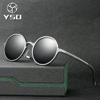 96d2892eb2dda YSO Óculos De Sol Dos Homens Polarizada UV400 Quadro De Alumínio E Magnésio  TAC Lente Óculos de Sol Óculos de Condução Rodada Acessório Para Os Homens  8552