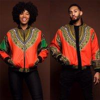impresiones africanas para la venta al por mayor-Pareja de Dashiki Estilo Vintage Wear GuyuEra caliente de la venta de los hombres de África étnico de los hombres de la chaqueta de Dashiki africana de impresión chaqueta más el tamaño S-XL