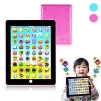 образовательный английский планшет оптовых-Tablet Pad компьютерные игрушки для детей Дети изучение английского языка обучения игрушки электронный ноутбук английский образовательные учить игрушки