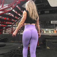 Wholesale women workout tights - Women's Leggings High Waist Push-Up Hip Compression Stretchy Yoga Workouts Running pants Capri Tight free shipping