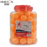 ingrosso nuovi barili di plastica-Huieson 60pcs / barrel S40 + palle da tennis tavolo nuovo materiale ABS plastica 1 stella Ping Pong palle per la formazione del club della scuola