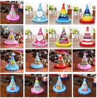 2b3fe95c4503 Wholesale blue baby hat online - Children Birthday Party Hat Rainbow  Colorful Baby Boys Girls Birthday