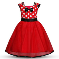 Wholesale ball gown dresses bow resale online - Baby Dot dress girls TUTU Bow Princess dresses new fashion Kids Clothing Boutique girls lace Ball Gown colors C3612