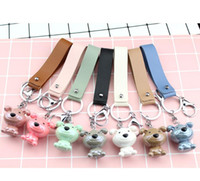 Wholesale Resin Boy Ornament - Creative dog Keychain cute resin pendant key chain popular delicacy 3D key ring lover ornament gifts
