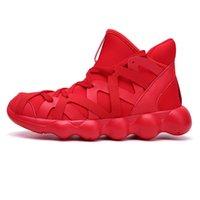 tela yd al por mayor-Nuevas zapatillas de deporte otoñales Stretch Fabric Botas de trabajo de hombres Botas ocasionales Hombres Zapatos de invierno Masculino Cómodo Tobillo Talla 37-47 YD-0090
