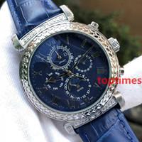 Wholesale womens watch bronze - Brand Luxury Womens Fashion Leather Mens Watch SKY MOON Aaa Designer Men Engraving Case Wristwatch Automatic Geneva Watch Reloj Watches