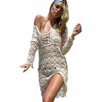 Wholesale robes plage - Swimsuit Bikini Beach Cover Up Tunics Beach Dress Saida De Praia Robe De Plage 2018 Swimwear Women Beach Wear Summer Beachwear