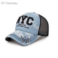 Wholesale shipping nyc - 2018 NYC Letter Summer Baseball Cap Women Snapback Hat Messy Bun Mesh Hats Casual Adjustable Sport Caps Drop Shipping