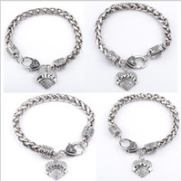 Wholesale Little Girls Bracelets - 15 Styles Charm Middle Little Sister Sis Clear Crystal Heart Pendant Bracelet Lovely Family girl Gifts Party Shiny Fashion Jewelry