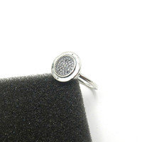 Wholesale cluster rings - Brand PAN Sterling Silver CZ Diamond RING with Original box Charm Womens Rings Fashion Wedding Ring For Women with LOGO