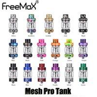 ingrosso lampadina di carbonio-100% originale Freemax Mesh Pro Tank 5ml 6ml Bulb Glass Resina in fibra di carbonio Sub Ohm Double Mesh Bobina 510 Atomizzatore filo Authentic