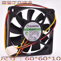 Wholesale Sunon Dc Fan - SUNON 6010 60*60*10mm 6cm DC 12V 1.4W KDE1206PFV1 Cooling Fan Ultra-thin silent cooling fan