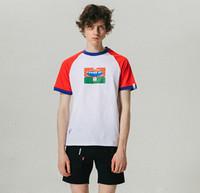 Wholesale raglan fashion men shirt - Raglan T shirt O-neck Short Sleeves Mens Basic Top Fashion Brand Male High Street Tee M-2XL Size