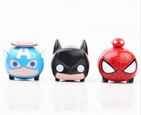 Wholesale diecast toy 64 - 1:64 Alloy Car Pull Back Diecast Model Cars 3 Designs Captain America Spider-Man Batman Mini Model Cars Toys Kids Toys BBA188