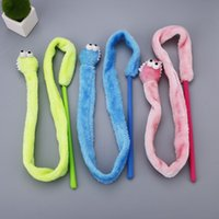 Wholesale Plush Snakes - Cartoon Lovely Cats Interactive Stick With Sound Box Snake Mint Tease Cat Sticks Comfortable Plush Play Toys Creative 5 8wt B