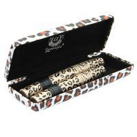 rimel leopardo envío gratis al por mayor-2018 New Hot Leopard Mascara 1 caja tiene 2 pcs Maquillaje Mascara Ojo Mascara Larga Pestaña Silicona Cepillo Envío gratis