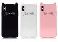 Wholesale 3d smile iphone case for sale - Group buy Fashion D Cat Smile Soft Silicone Case For Iphone XR XS MAX X Plus S SE S Cute Cartoon Gel Lovely Colorful Pink Black Phone Cover