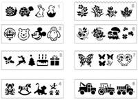 kelebek şablonlar toptan satış-Roman Plastik Çizim TempLate Dantel Çiçek Hayvan Araba Kelebek Kukla Görüntü Stencil Fotoğraf Albümü Aksesuar Günlüğü Dekorasyon Pochoir Baskı