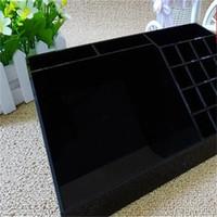 caixa acrílica preta venda por atacado-Acrílico batom preto multi função quarto housekeeping batom sala de estar caixa de armazenamento de maquiagem desktop receber caixas cor pura 35hl bb