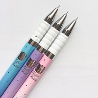 Wholesale pastel stationery for sale - Group buy J39 X Kawaii Pastel Hello Kitty Kitten Gel Pen School Office Supply Student Stationery Kids Rewarding Gifts Black Ink mm