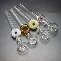 Wholesale recycled glass for sale - Group buy Hot Selling inches Glass Hand Pipes About cm Length G Weight mm Diameter Bowl Colored Recycle Perc Glass Pipes Oil Burners